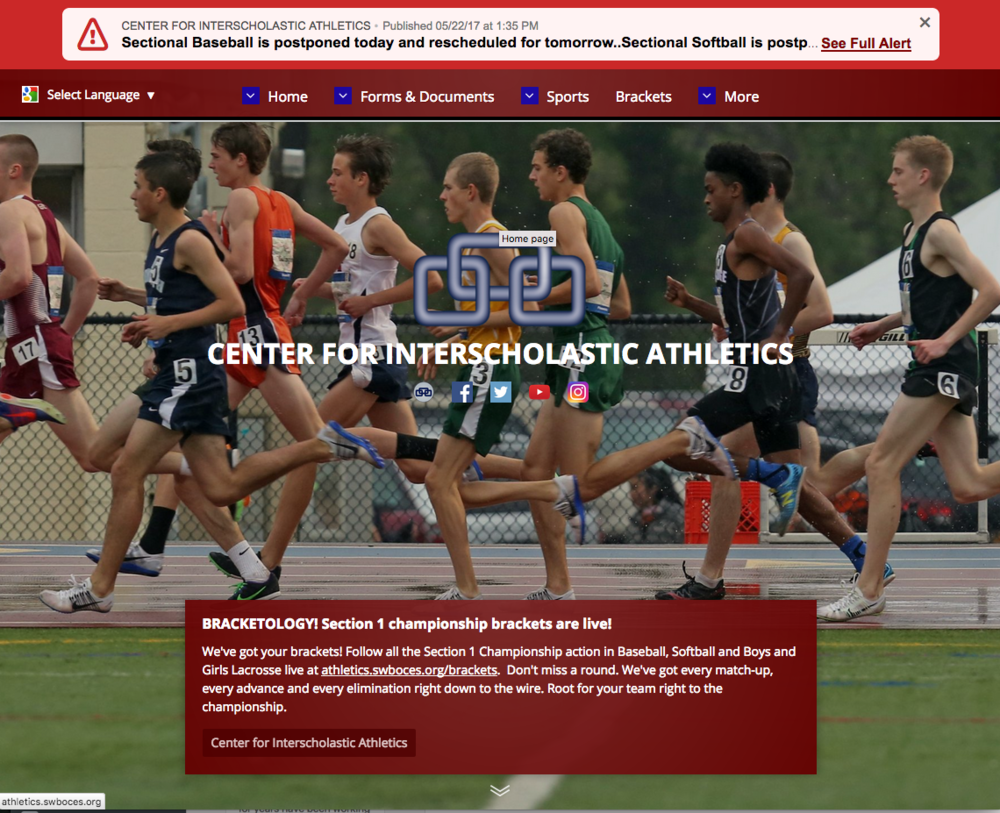 The SWBOCES Center for Interscholastic Athletics uses Brochure to highlight great photos of student athletes.