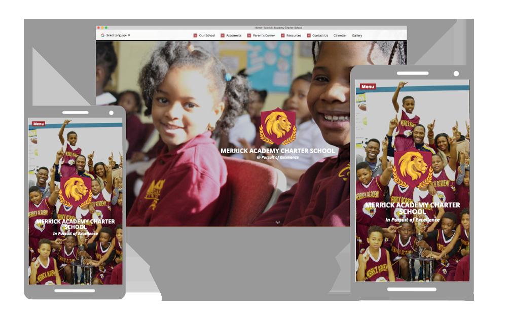 Example of beautiful responsive school website