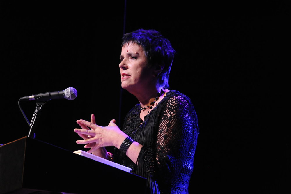 Eve Ensler in _Body of Work_ photo by Michael Ensminger.JPG