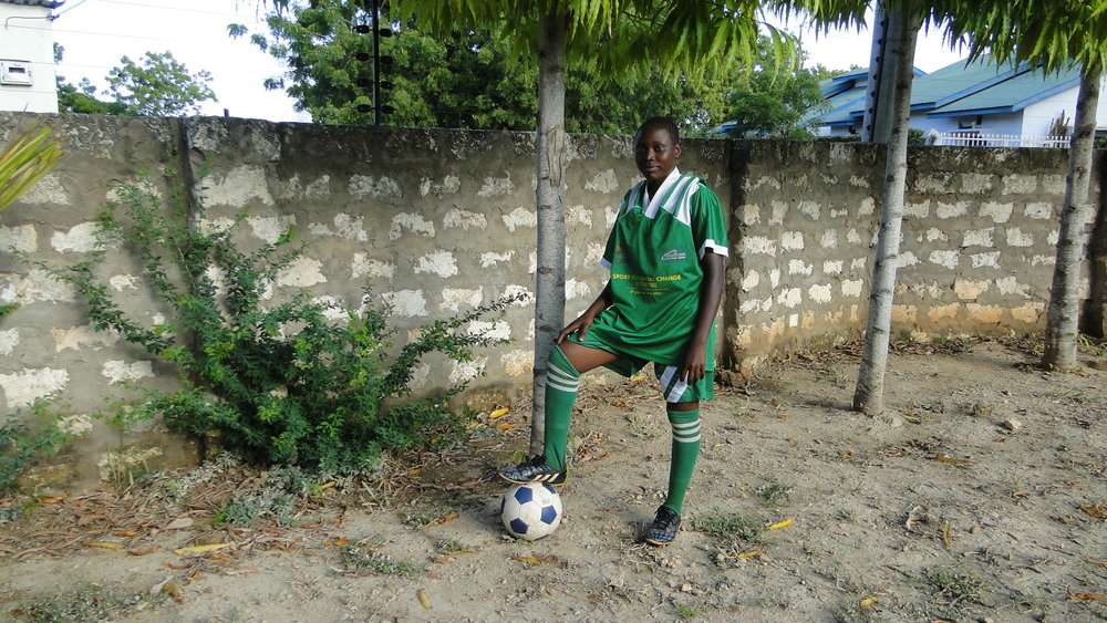 Christine Kaingu Charo  Age: 20 POsition: Defender What attracted me to joining MTG were the stories I heard in the community of how girls lives were transformed through playing football. I was later trained as peer educator and had a role to pass sexual and reproductive health information to fellow girls in my community.