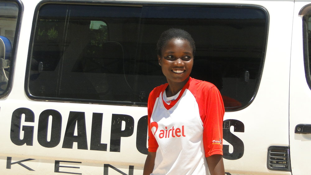 Mwanaidi Karisa  Age:21 Position: Defender I played for MTG's team that participated in the National Women's Premier League in 2011 and 2013. I have traveled to places I only read about in our geography book! Participating in the Global Goals World Cup enabled me to understand the 17 Sustainable Development Goals. I look forward to more football trainings, team work in preparation for the tournament that will be held in New york