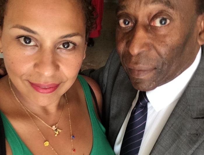 Kely Nascimento-Deluca with her father Edson Arantes do Nascimento a.k.a Pelé