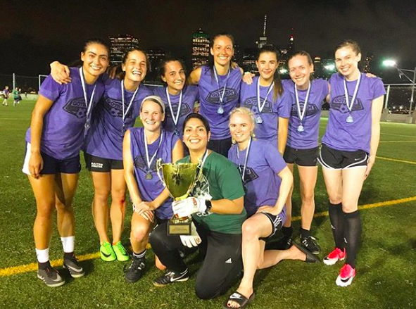 GLOBAL GOALS NYC FC Playing for goal 17: Partnerships For the Goals This amateur team wants to do more than just play great soccer. They are dedicated to support their local community and use their skills to build partnerships for the Global Goals.  @beyondfcwomen
