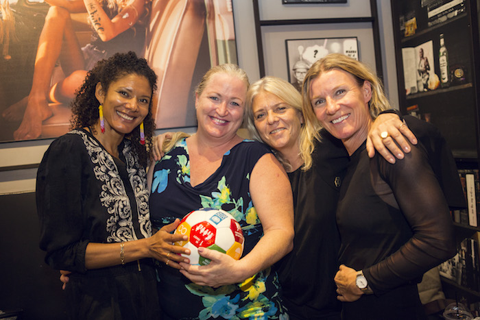 "GGWCup Founders Rikke Ronholt and Majken Gilmartin with ""co-conspirators"" Adrienne McCord and Nanna kalinka Bjerke at Joe and the Juice pre-tournament event in New York"