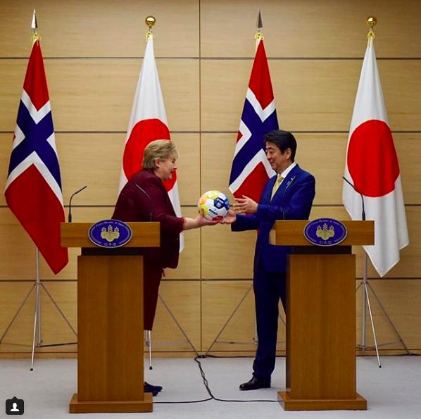 Erna Solberg & Shinzo Abe