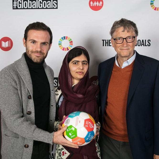 Juan Mata, Malala & Bill Gates
