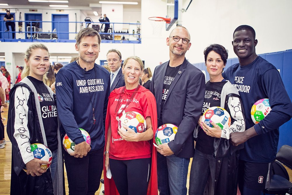 2016 GGWCup New York City - The Global launch of GGWCup was held alongside the Social Good Summit @92Y With support from the Danish Ministry of Foreign Affairs, UNDP and Goodwings.We got our first ambassadors: Lene Nystrøm (Aqua), Birgitte Hjort-Sørensen (Borgen) Nikolaj Coster-Waldau and Victor Ochen.