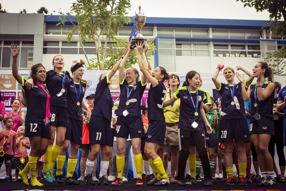 2017 GGWCup Bangkok - Big Mango FC won the first Asian Global Goals World Cup in Bankok, hosted by NIST International School and Chelsea FC Foundation in partnership with UNDP.Pandora was main sponsor and the Royal Danish Embassy held a dinner for the partners. GGWCup Bangkok was scheduled for February 2019.