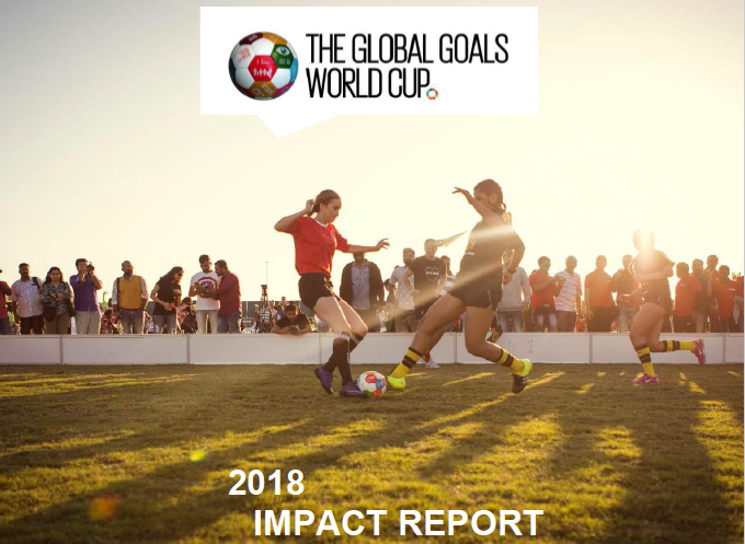 2018 COPENHAGEN - The first impact report was published. Showing that teams that play in Global Goals World Cup feel more competent and confident to become activists for the Global Goals, and that women who would not otherwise play sport are inspired to participate. Read impact report
