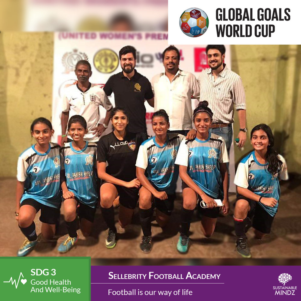 When a team's motto says 'Football is our way of life' you know they've done their homework for the upcoming Global Goals World Cup. With 10 days to go for the football extravaganza at  Fr. Agnel Multipurpose School and Junior College , here's wishing  Sellebrity F.C , the football lovers the very best of luck for the upcoming games.