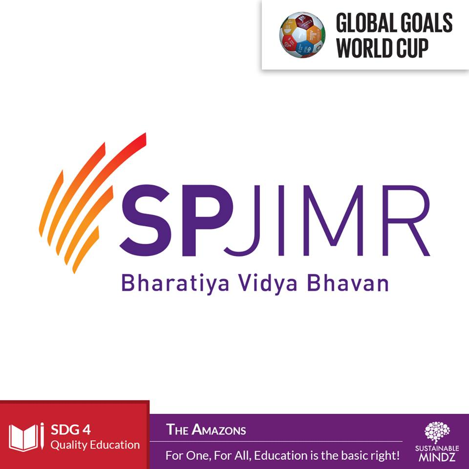 The Amazons are representing  SP Jain Institute of Management & Research (SPJIMR)  and will be hoping to give all the other teams an education in the art of football. All for one and one for all is their essence and we're hoping that they provide some really good competition at the Global Goals World Cup.