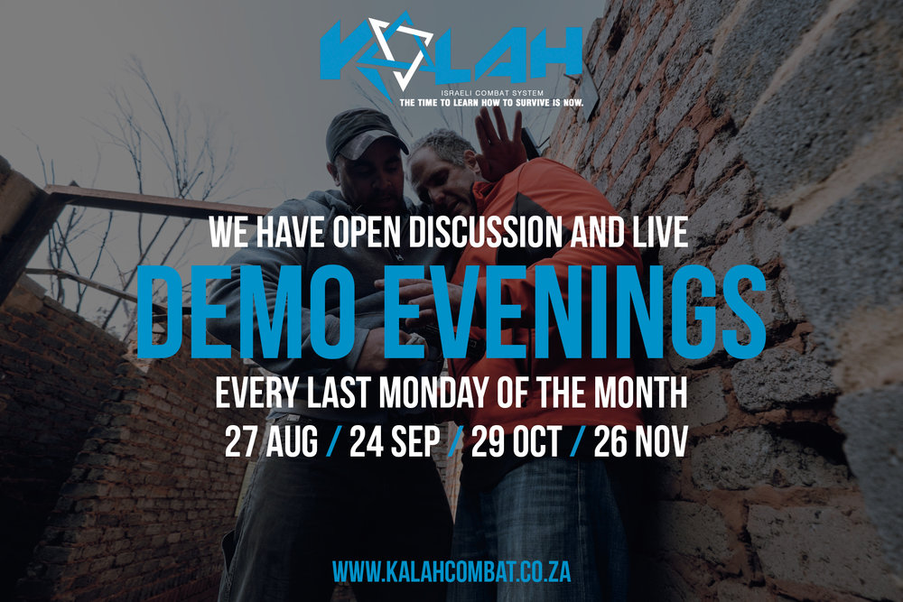 FINAL 2018 DEMO NIGHT - 26 NOVEMBER18:30 pm // 62 Tobie st. Hennopspark, Centurion.Call 082 874 8308BOOK FROM FORM BELOW