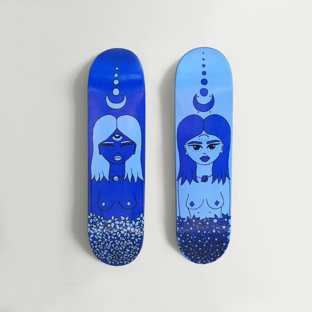 Etherial, Diptych Skateboard Commission