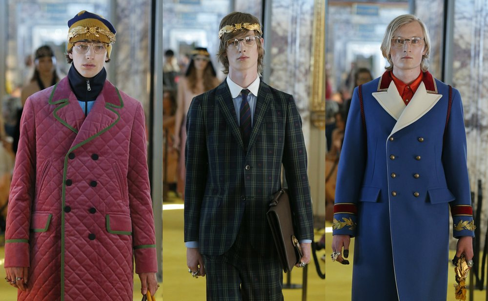 e6cab5be032 Gucci Men s Cruise Collection 2018  Alessandro Michele is Giving Us Wes  Anderson Vibes.