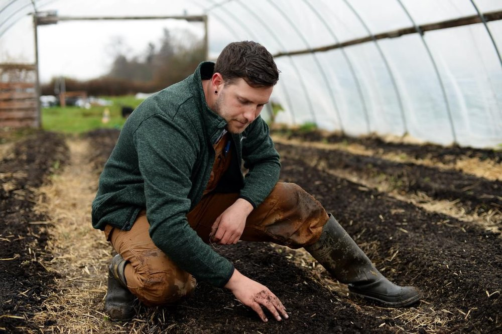 Daniel Garfinkel, the manager of the Richmond farm school, is a young urban farmer who fell in love with the social and ecological benefits of growing. (JENNIFER GAUTHIER / FOR STARMETRO)