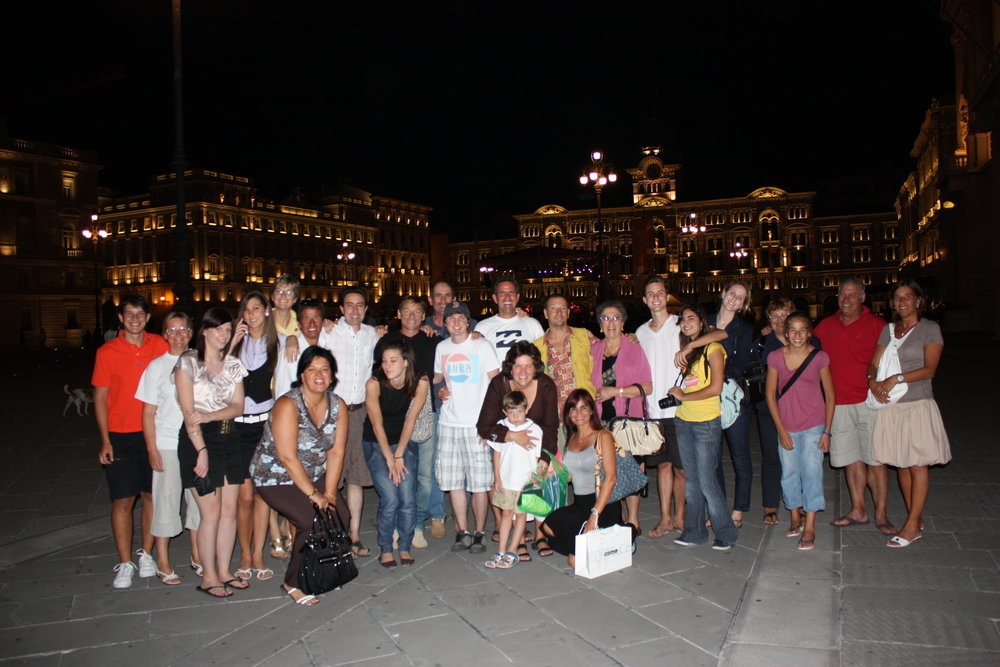 Friends and family in Trieste, Italy