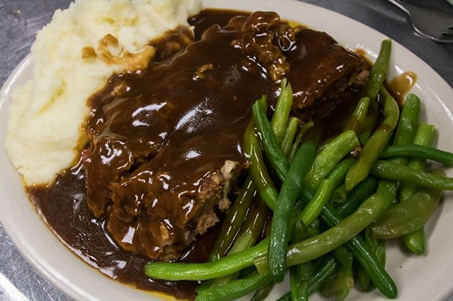 Greens and gravy, it doesn't get any better than that.