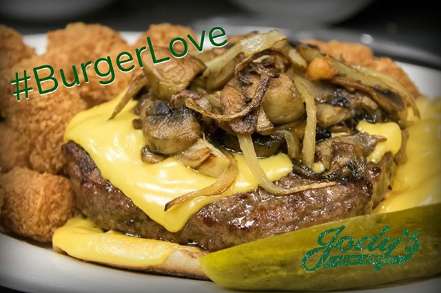 #BurgerLove is #TrueLove!! Stop in today for a juicy #burger at Jody's Club Forest!