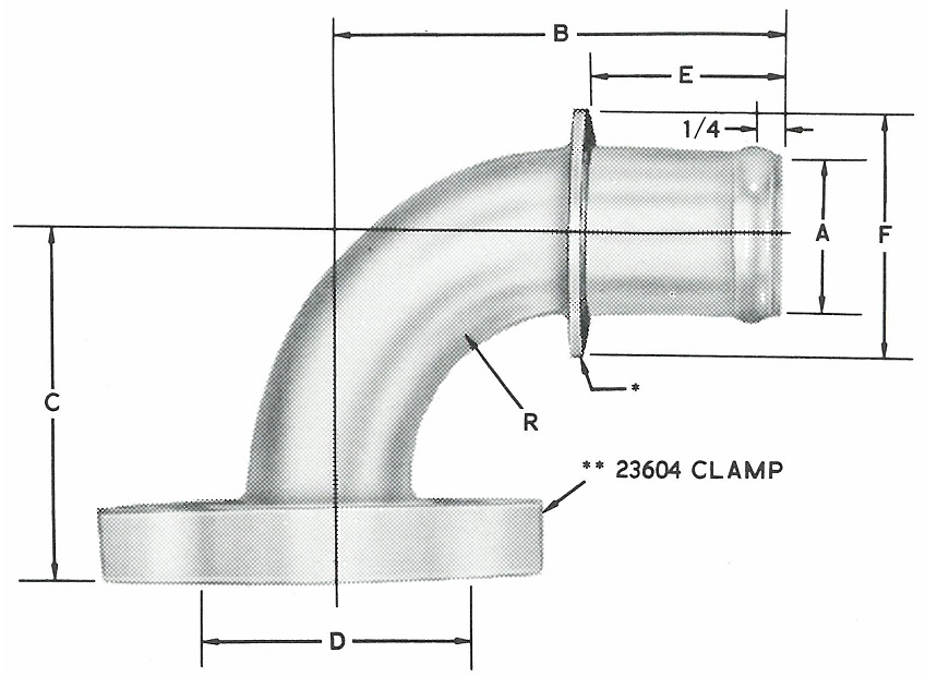 23867 90* Elbow S.A.E. Flanged Head