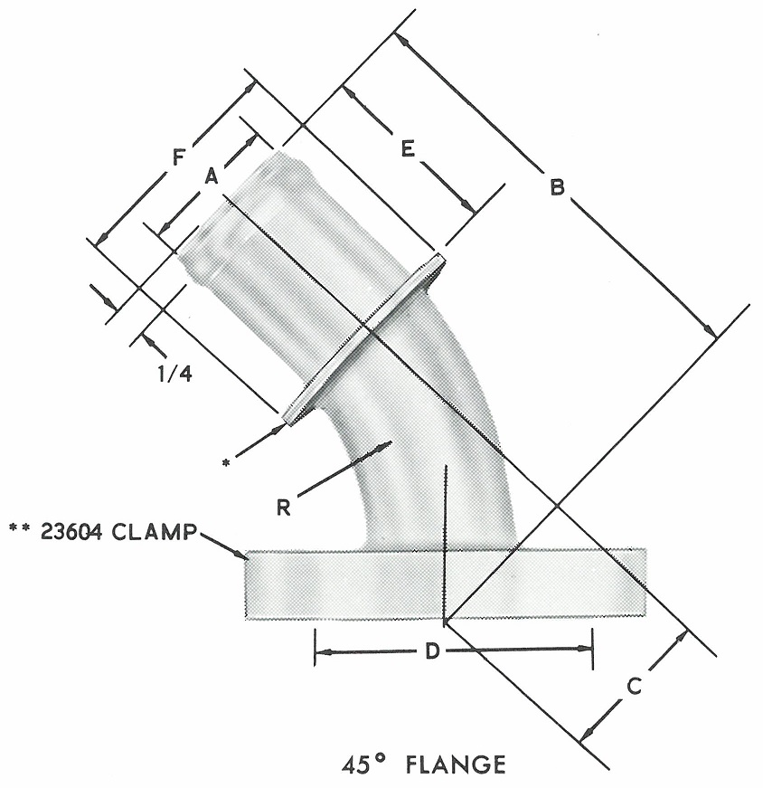 23868 45* Elbow S.A.E. Flanged Head
