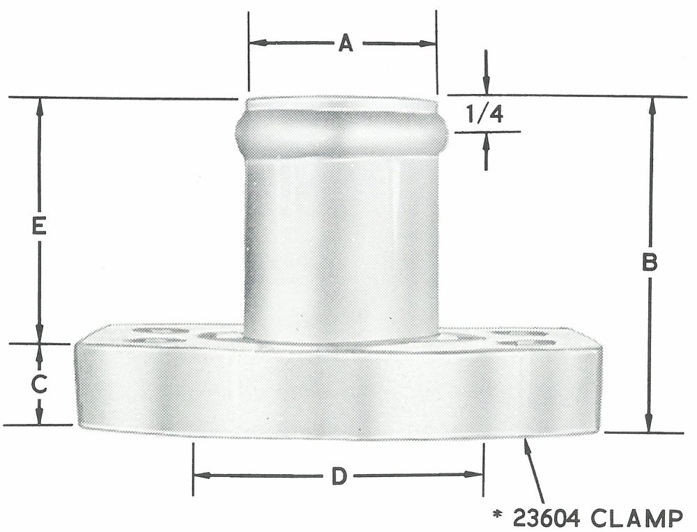 23876 Straight S.A.E. Flanged Head