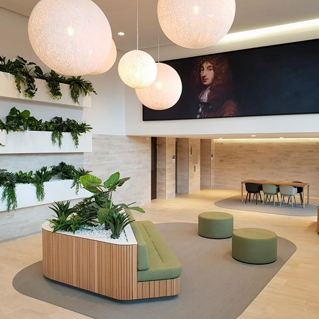 Interior for the lobby of a residential building.. A complete design + build project by @maaq_design_build , a great collaboration with the property owner Altera Vastgoed...