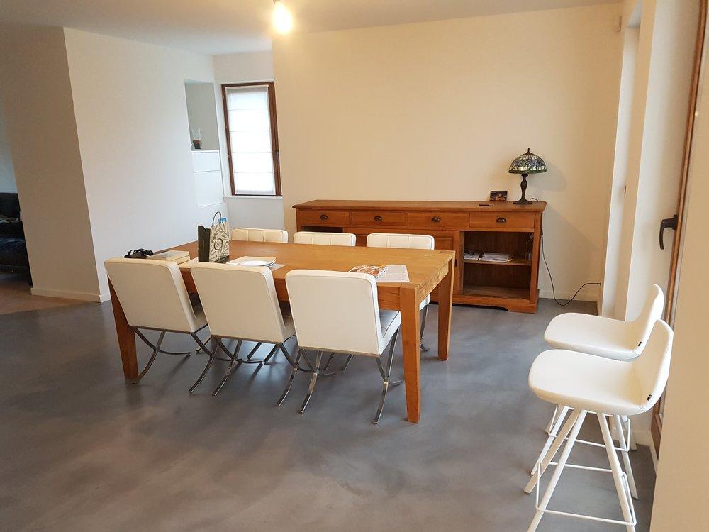 beton ciré badkamer renovatie