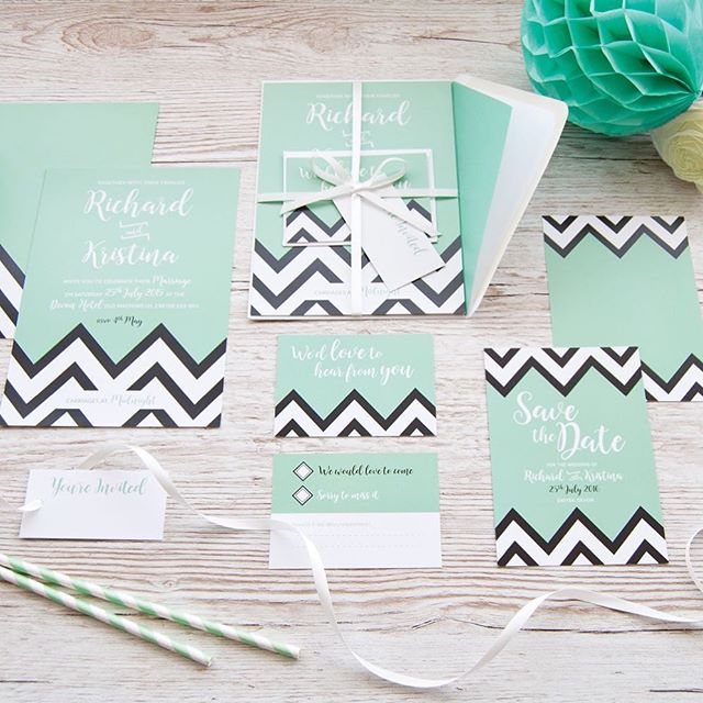 Our fun and funky creative chevron collection always leaves a bold impression on your guests 💚💚