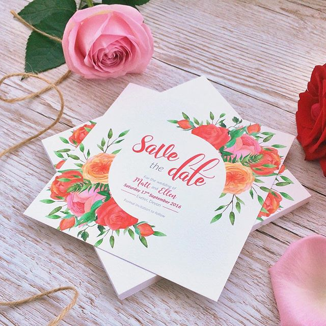 Missing summer already? Save the date for your spring / summer wedding with our beautiful Midsummer Bloom collection 👰🏼🤵🏻🌼🌸