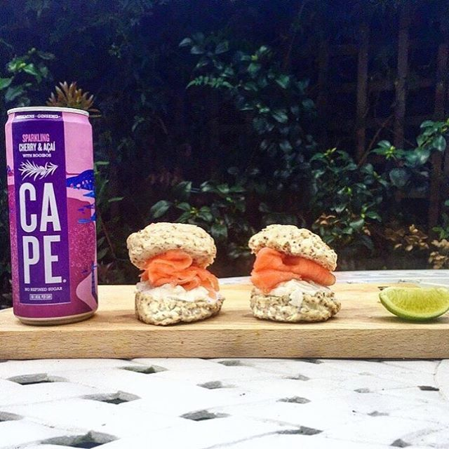Yesterday's afternoon tea at Cape HQ! Savoury scones with smoked salmon #capelife
