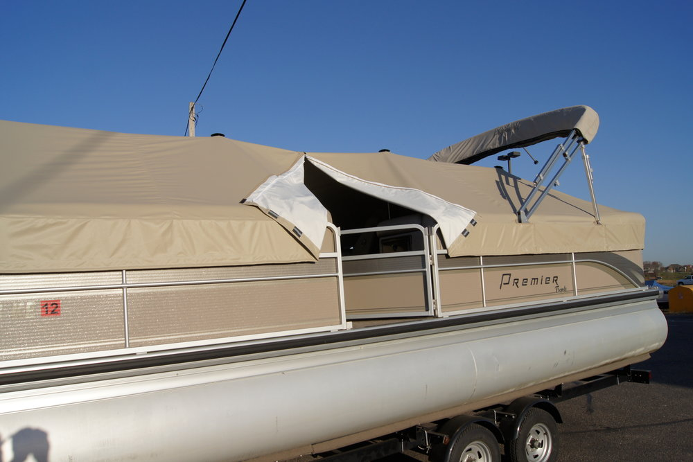 Pontoon Cover with Custom Features.JPG