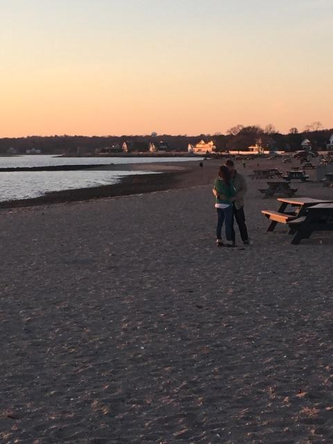 Jason proposed to Kristen on Compo Beach in Westport, CT, where they have shared many special times together. By total coincidence and good fortune, the moment was caught on camera by a few folks nearby!