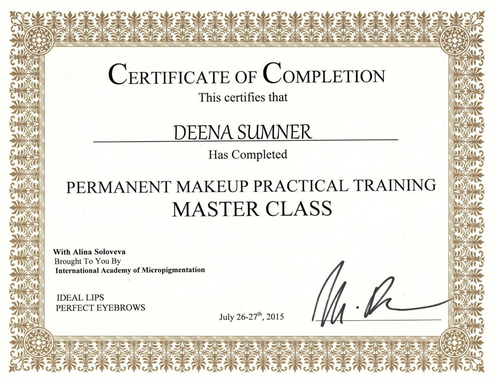 Permanent Makeup Practical Training Master Class