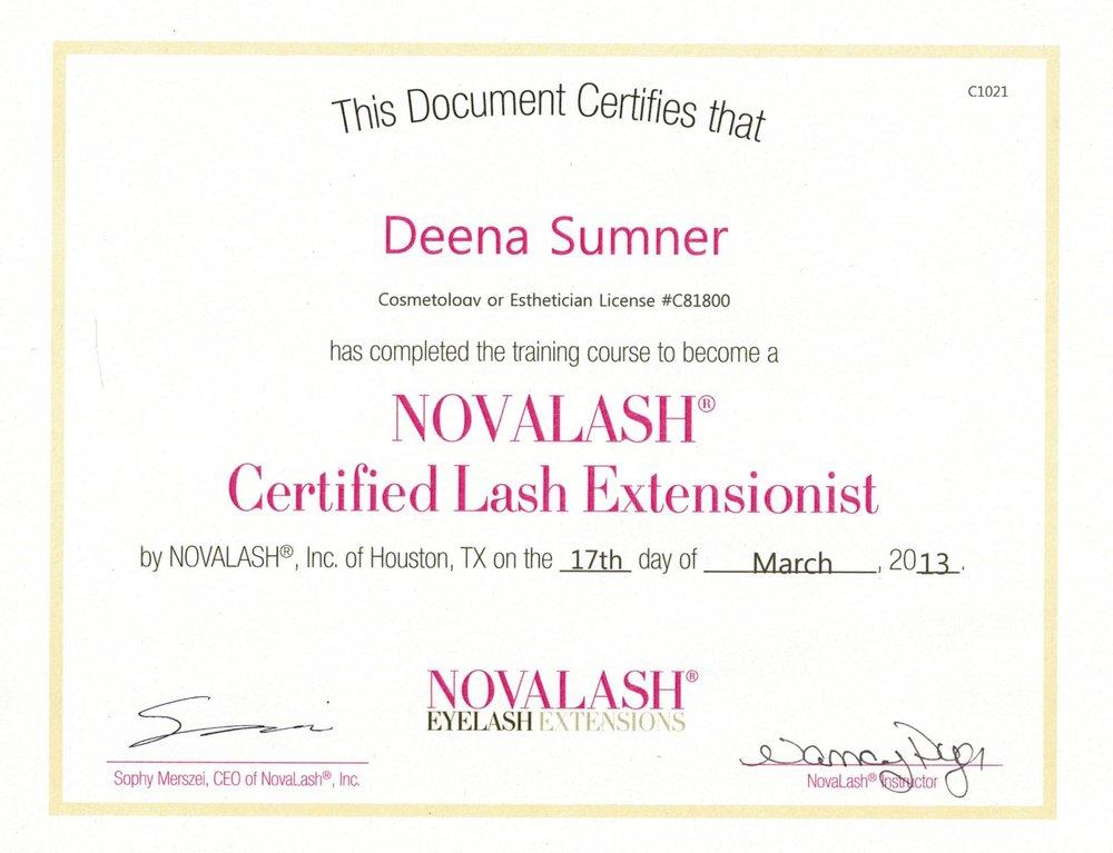 Novalash Certified Lash Extensionist