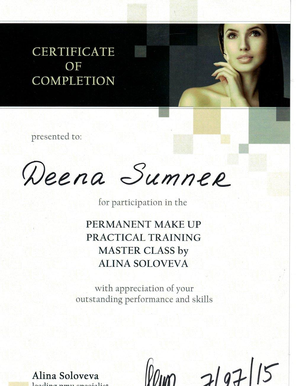 Permanent Makeup Master Class