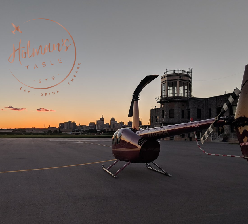Chef Crafted Dinner at Holman's Table and Helicopter Ride for 6! - Value: $1,000Donor: Holman's Table