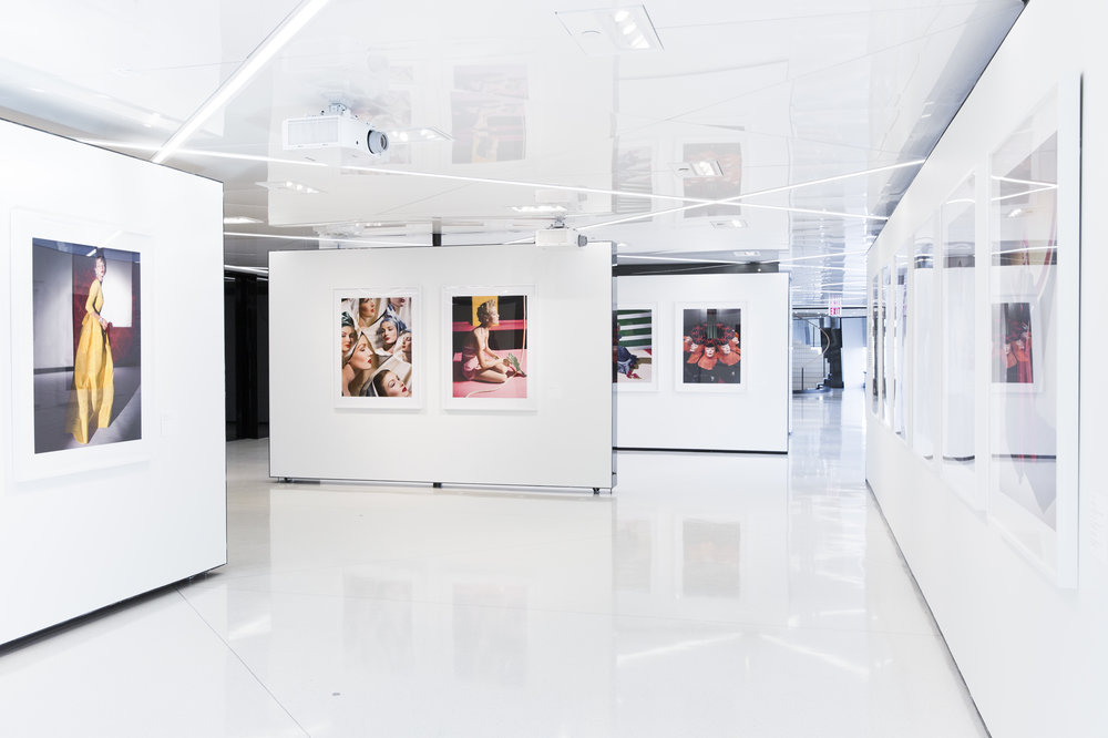 Installation view of Horst's World In Colour curated by Shawn Waldron for the Condé Nast Gallery. The prints were produced for Horst's 2014 retrospective at the Victoria and Albert Museum and later released as limited edition prints by the artist's estate.