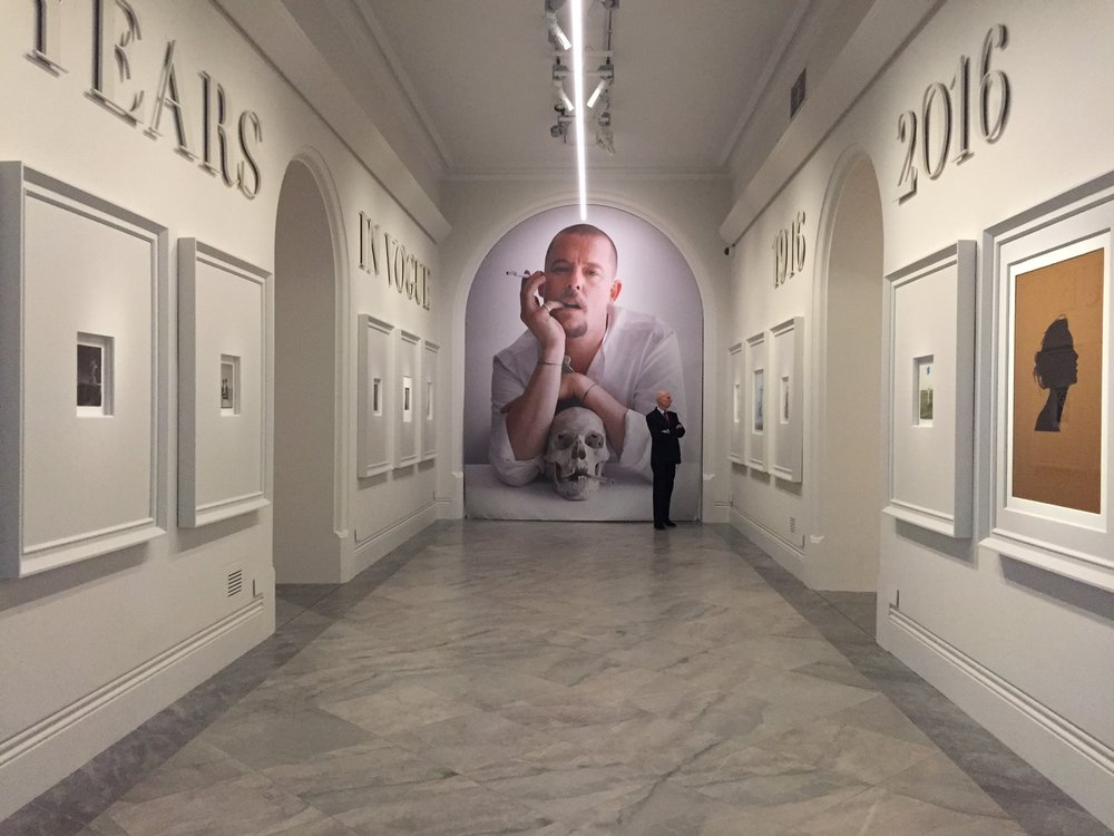 Installation view of  Vogue 100  at the National Portrait Gallery, London.