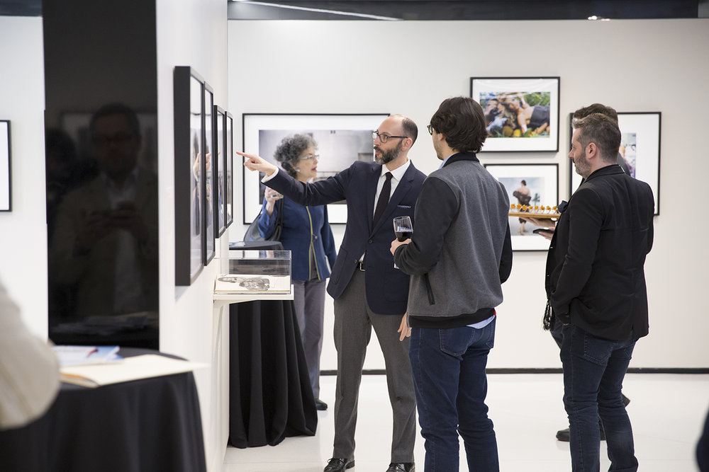 Curator Shawn Waldron during the press preview of  Stories Untold.  The exhibition presented previously unseen outtakes and rarities from Condé Nast's archives and was presented in collaboration with Getty Images. Photo by  Shea Kastriner .