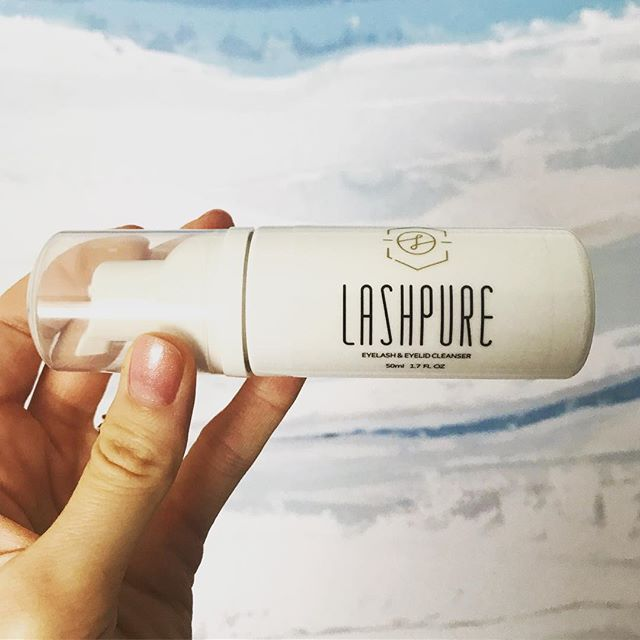 So excited to be retailing this incredible product! @sugarlashpro LashPure cleanser is now available @solace.beauty for $20/bottle. Take care of your #lashextensions and keep those lashes clean with this simple foam cleanser!
