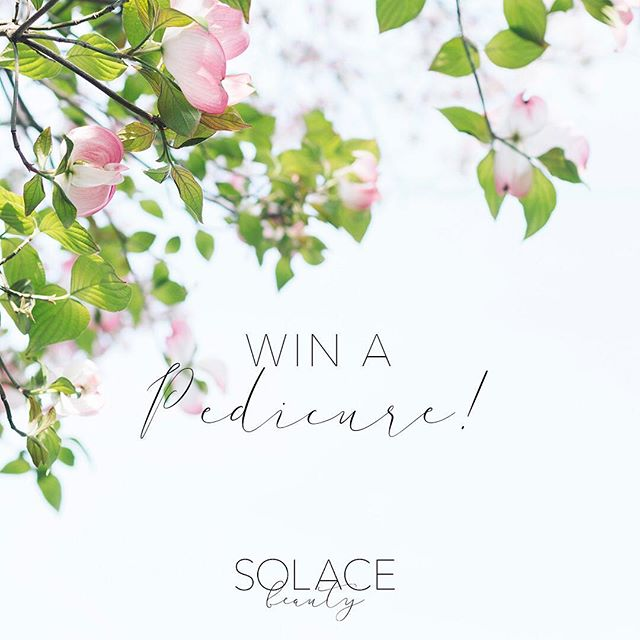GIVEAWAY!🌷That's right, you could win a pedicure just in time for Spring!  Here's how to enter: 🌼 Follow @solace.beauty 🌸 Tag 2 friends who also deserve a pedicure 🌻 Share this image on your story for an extra entry!  Winner will be drawn at noon EST on Fri April 5th! Good luck!