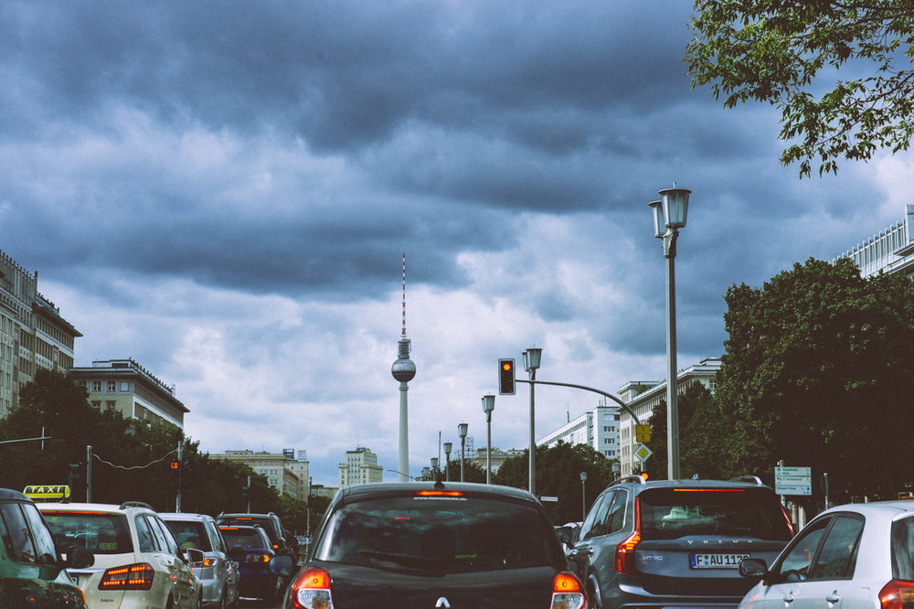 Germans spend an average of 38 hours every year stuck in traffic.Image Source