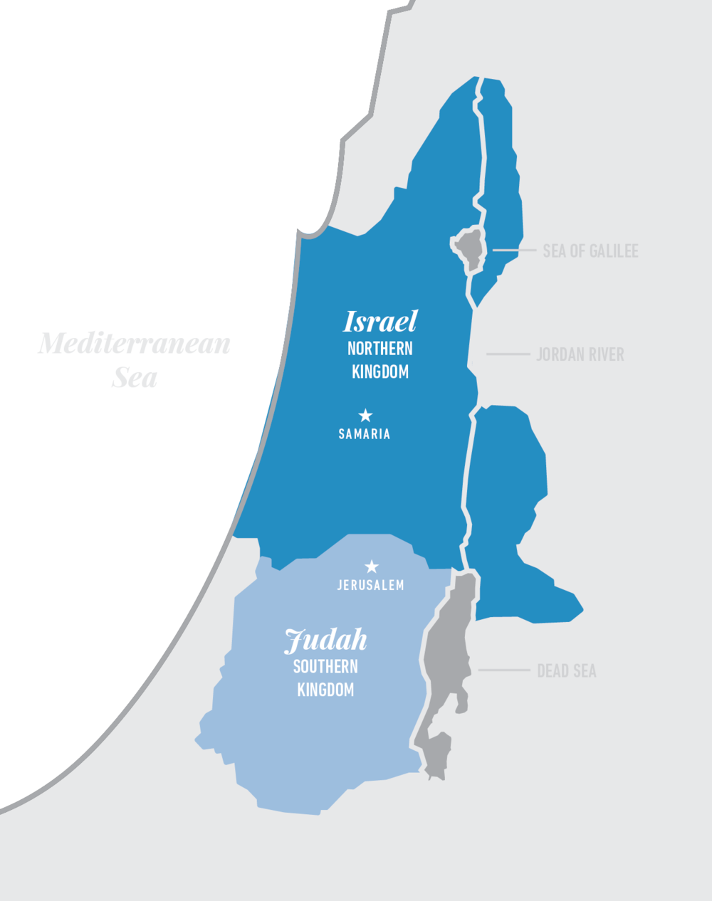Week Northern Kingdom THE BIBLE INITIATIVE - Map of old testament israel