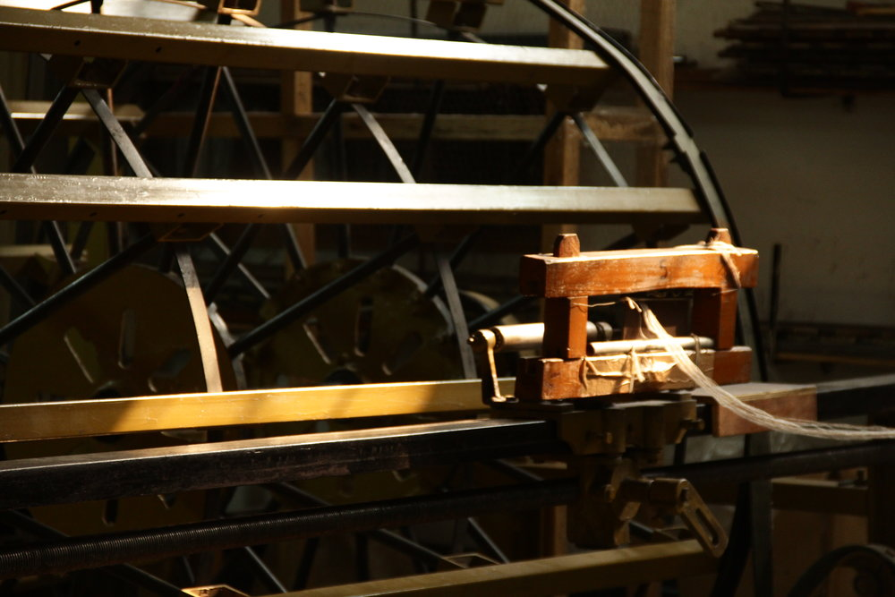 A traditional hand-loom: where our Mongolian cashmere is spun.