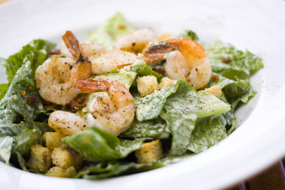 CAESAR SALAD w. GRILLED SHRIMP