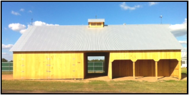 This replica of an original early 1900s barn was built in the fall of 2013. Funding was made possible by grants from Rita Huebner Janak, Sanford Schmid, and the City of La Grange Economic Development. The Barn also houses the Texas Czech Agriculture Museum and was dedicated in October 2014. The Janak Barn is an example of the productivity and prosperity for a Texas-Czech farm family. The displays tell about early farming practices and show how the barn was the center of the farm.