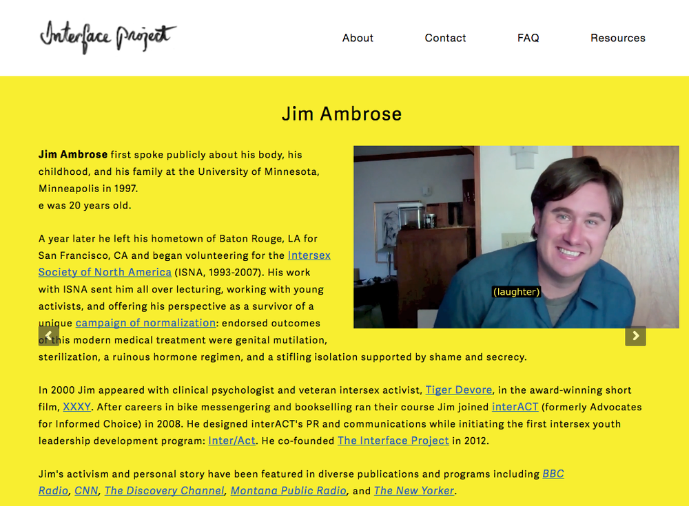 Jim Ambrose's tesimony video on the Interface Project's website