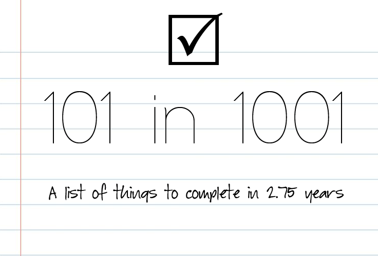 A list of 101 things to do in 1001 days | The Kardia Blog