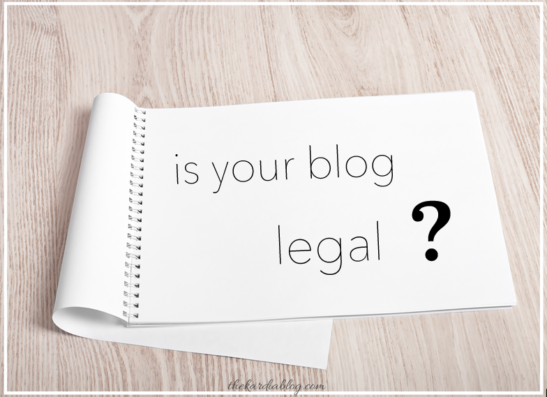How to make your blog or website legal by adding a disclosure policy, terms of service, and a privacy policy. #blogging #blogtips