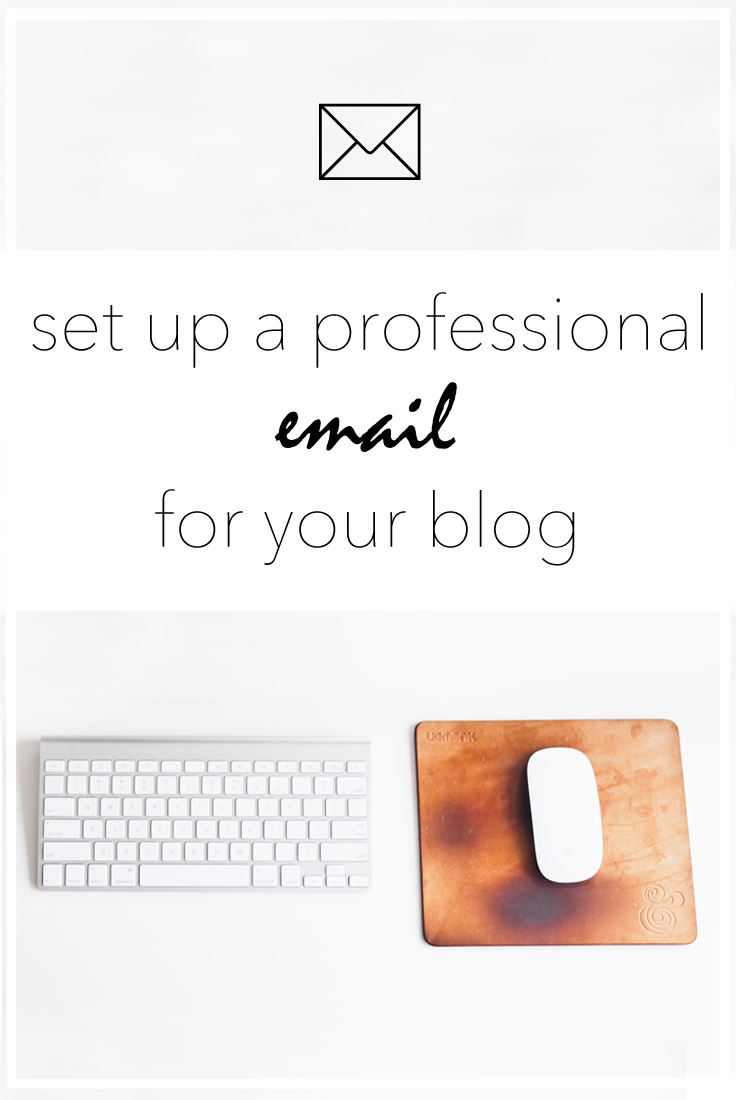 Make your blog more professional by using a business email. #blogtips #blogging